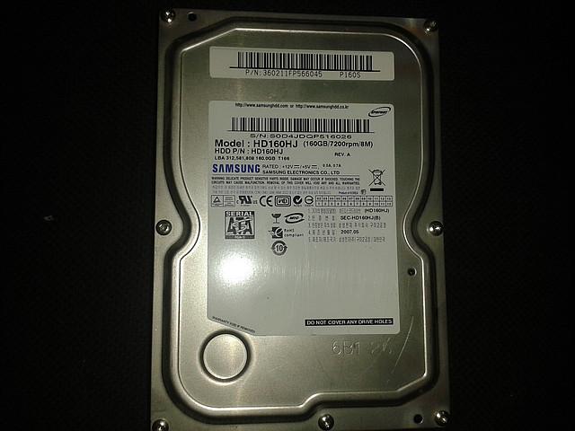 "Жесткий диск Samsung 160Gb, HD160HJ, Sata 3,5"" бу"
