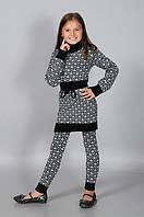 Детские вязанные туники для девочек, фото 1