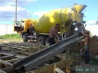 """Укладка бетона из """"миксера"""""""