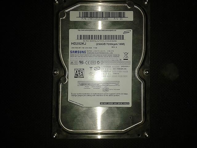 """Жесткий диск Samsung 250Gb, SP2504C, Sata 3,5"""""""