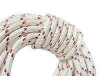 Шнур капроновый плетеный статика/альпинистский д14 мм /разр.4100 кг