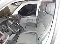 Чехлы на сиденья Фольксваген Транспортер Т5 (чехлы из экокожи Volkswagen Transporter T5 стиль Premium)