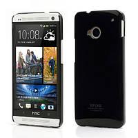 Чехол пластиковый SGP Ultra Thin на HTC One M7 801e, черный