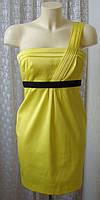 Платье женское летнее желтое яркое модное стильное мини бренд River Island р.40 6432