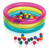 Бассейн 48674 детский с шариками в комплекте (50 шт), размером (86 х 25 см) HN
