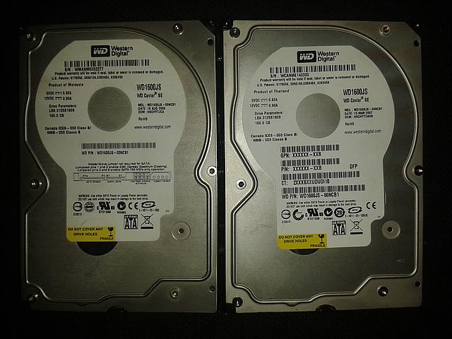 "Жесткий диск Western Digital 160Gb, WD1600JS, Sata 3,5"""