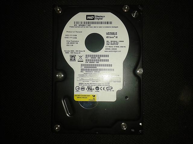 "Жесткий диск Western Digital 250Gb, WD2500JS, Sata 3,5"""