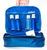 Дорожный органайзер для косметики с отстегивающимся кармашком ORGANIZE (синий), фото 2
