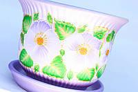 Горшок Сиреневый цветок