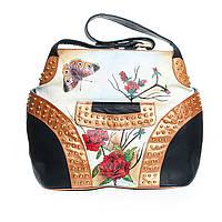 Женская красивая большая кожаная сумка