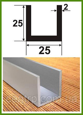 25*25*25*2. Алюминиевый швеллер. Без покрытия.