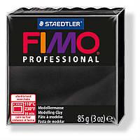Фимо профессиональная черная, № 9. Fimo professional Black. 8004-9. Глина Фимо. Черный.