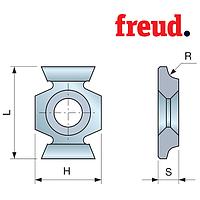 Ножи твердосплавные  для фасок, универсальные для дерева, Freud IG51M BA3 22х16х5 3x45 Z=2 HM