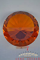 Кристалл на подставке(коньячный) D22