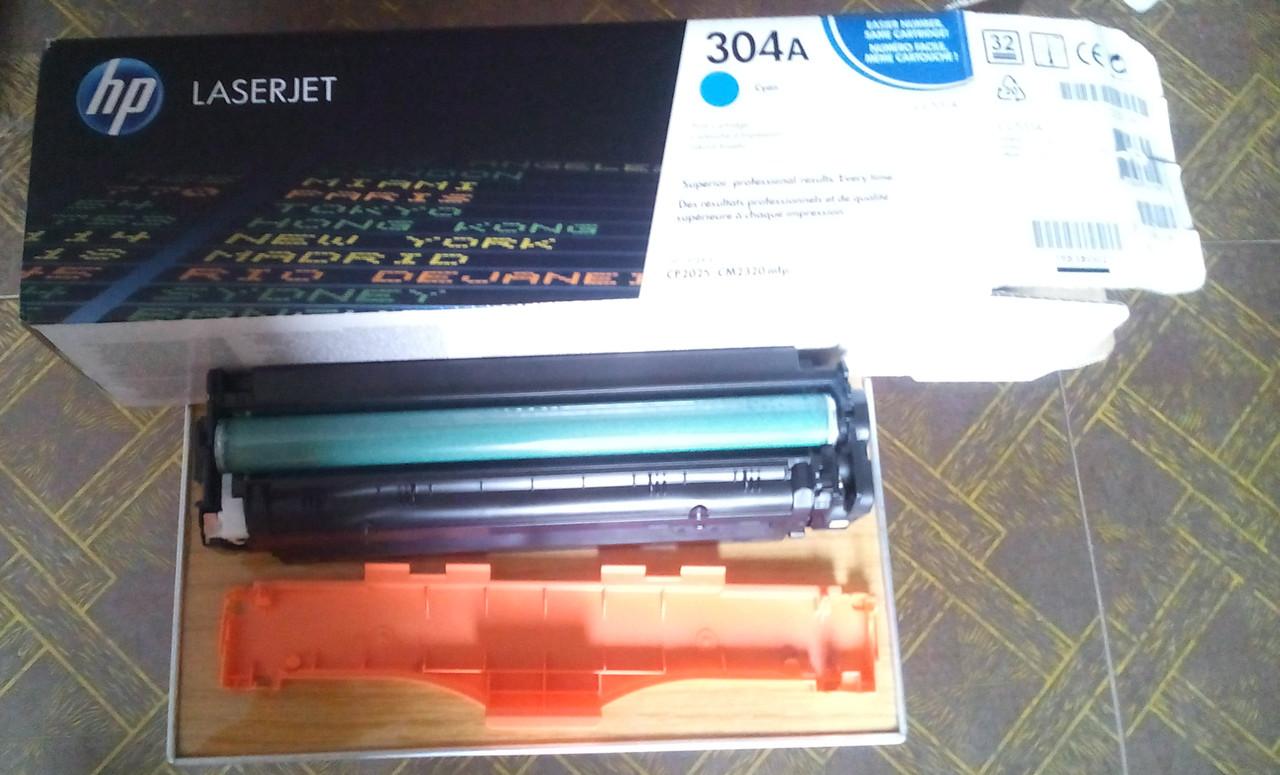 Картридж HP CC531A синий для МФУ HP Color LaserJet CM2320fxi/CM2320nf, HP Color LaserJet CP2025dn/CP2025n