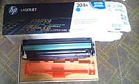 Картридж HP CC531A синий для МФУ HP Color LaserJet CM2320fxi/CM2320nf, HP Color LaserJet CP2025dn/CP2025n б/у