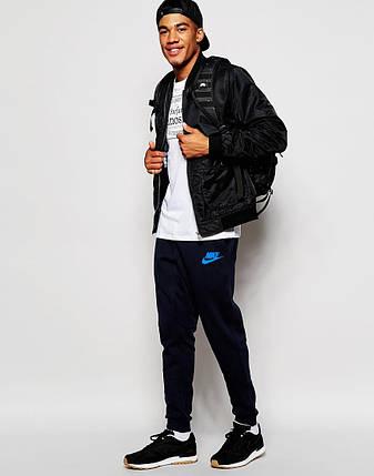 Мужские спортивные штаны Nike черные, фото 2