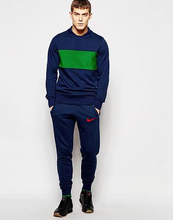 Мужские спортивные штаны Nike т.синие, фото 2