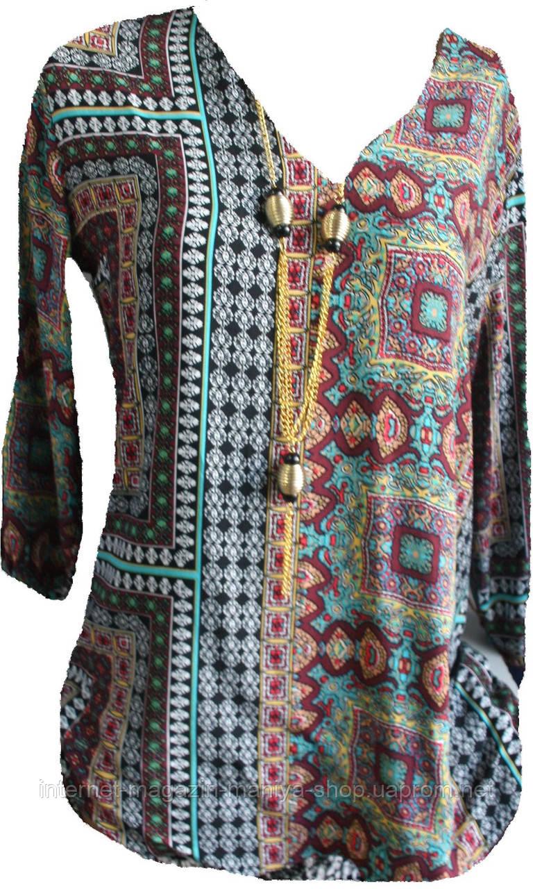 Женская блузка полу батал Турция