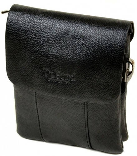 Классическая мужская сумка-планшет из искусственной кожи dr.Bond 88323-3 black