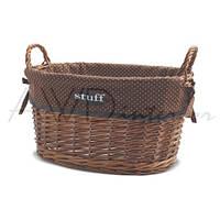 Корзина для белья с ручками плетеная овальная Stuff L AWD02240874