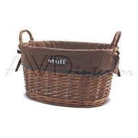 Корзина для белья с ручками плетеная овальная Stuff M AWD02240875