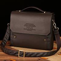 Мужской кожаный портфель Polo. Модель - 423, фото 1