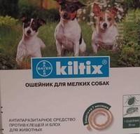 Инсектоакарицидный ошейник для мелких собак.
