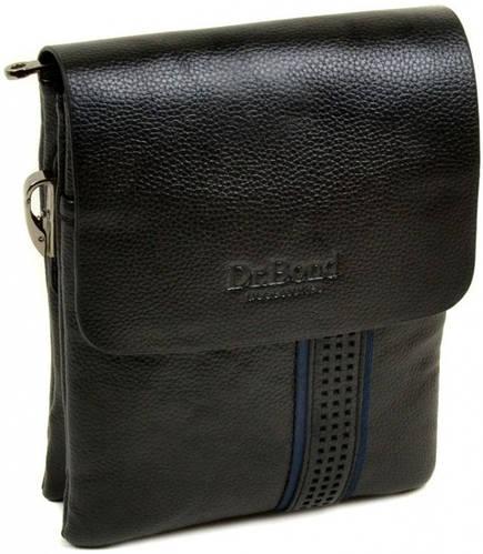 Вместительная мужская сумка-планшет из искусственной кожи dr.Bond 88320-1 black