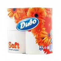 Туалетная бумага Диво 2слоя, 4рул. белая
