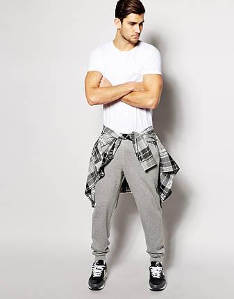 Мужские спортивные штаны Reebok серые с принтом, фото 2