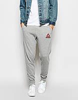 Мужские спортивные штаны (с начёсом) с принтом Рибок