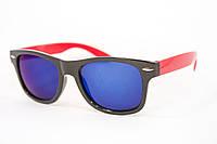 Детские очки с защитой UV-400 в виде супер популярных очков RB с яркой зеркальной линзой