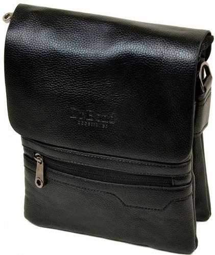 Замечательная мужская сумка-планшет из искусственной кожи dr.Bond 88255-2 black