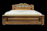 Кровать из дерева Вера (с кованным элементом) 160*200