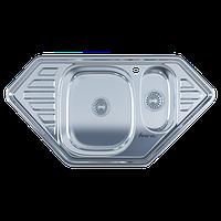 Мойка врезная из нержавеющей стали 9550C Polish, размеры: 950*500*175/180 мм.