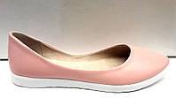 Балетки женские Украина кожаные мятные и розовые  Uk0236