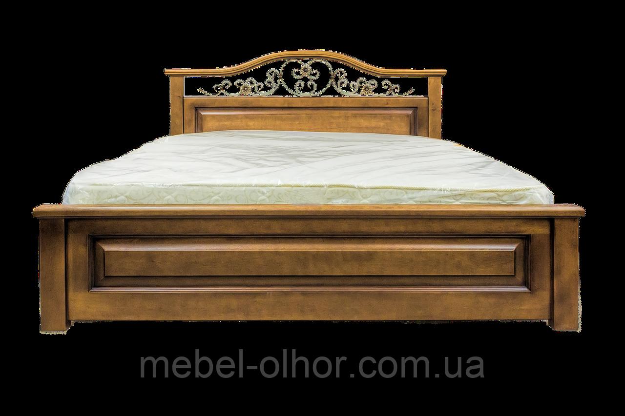 Кровать из дерева Вера (с ковкой) 160*200 белая