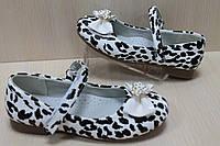 Туфли на девочку с леопардовым рисунком тм Tom.m р.27,28
