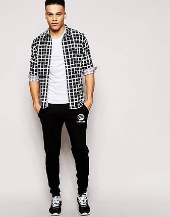 Мужские спортивные штаны Adidas черные, фото 2
