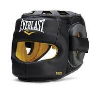 Боксерский шлем с бампером Everlast C3 Safemax: натуральная кожа, вентилируемая подкладка, фото 1