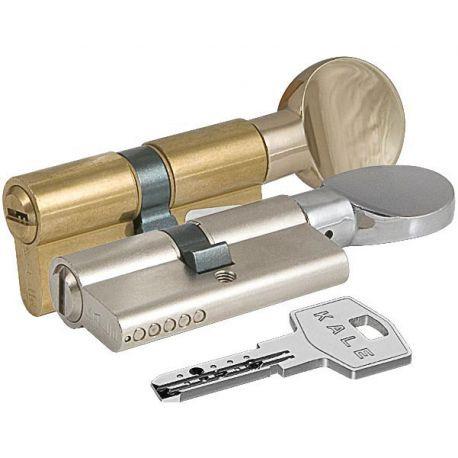 Цилиндровый механизм секретности KALE 164 BM 80 (30+10+40)поворотник с большей стороны, цвет латунь