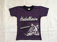 """Детская футболка на мальчика 4-8 лет""""Docklands"""",фиолетовая"""