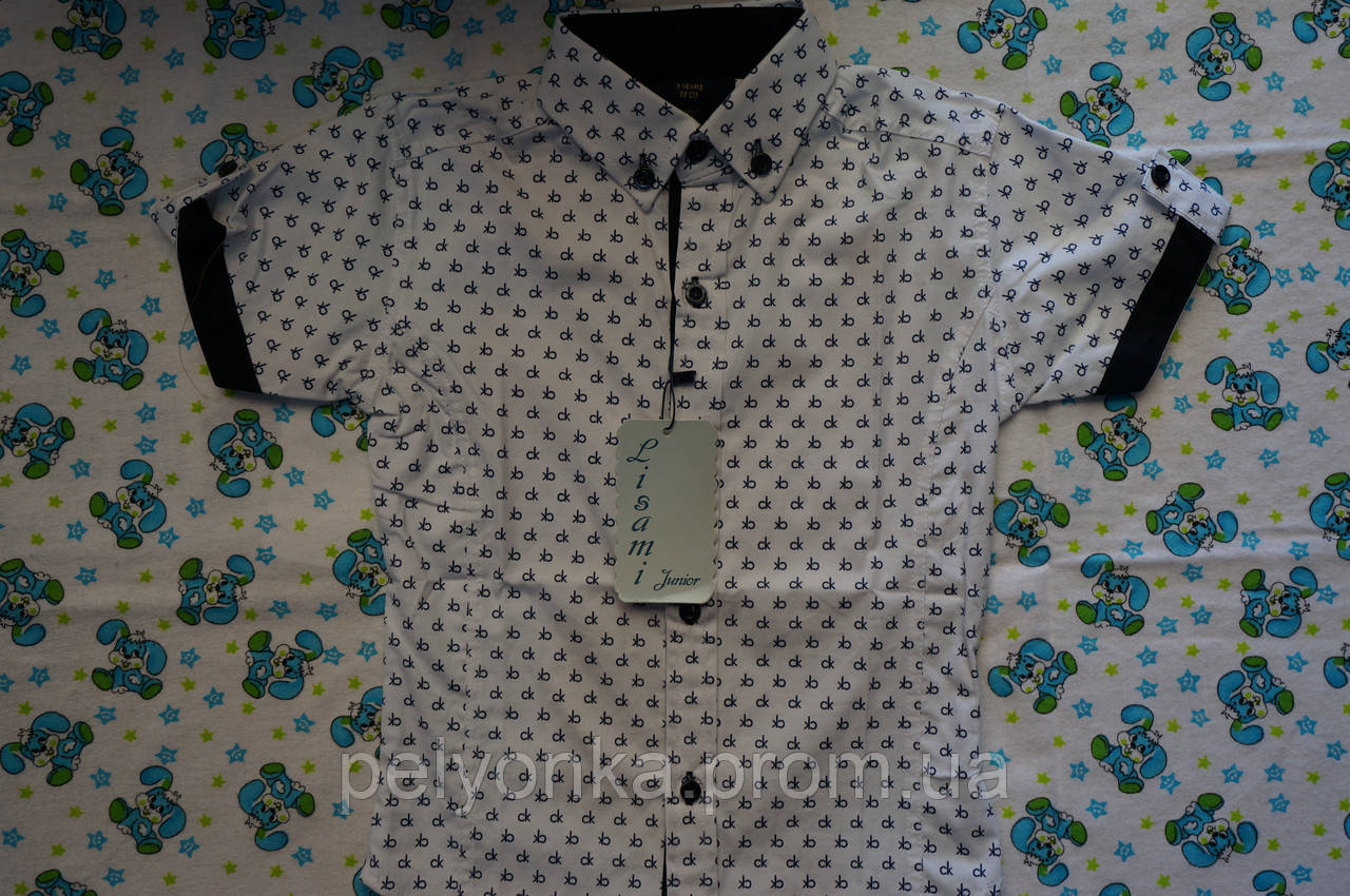 Рубашка короткий рукав турция 1-6 лет
