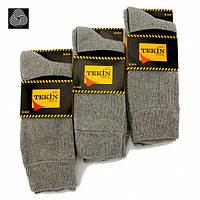 Мужские носки махровые Tekin серые 40-44