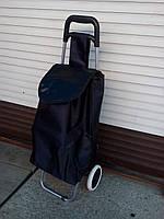 Тележка хозяйственная с атласной сумкой (черная), фото 1