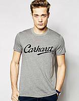 Модная мужская футболка серая Carhartt