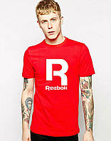Модная мужская футболка красная Reebok