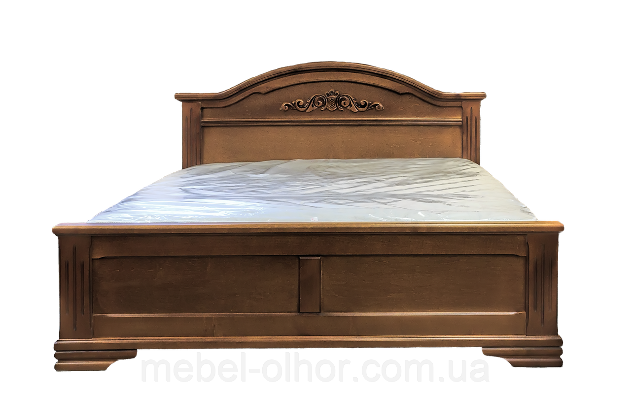 Кровать из дерева Флоренция (160*200)белая эмаль