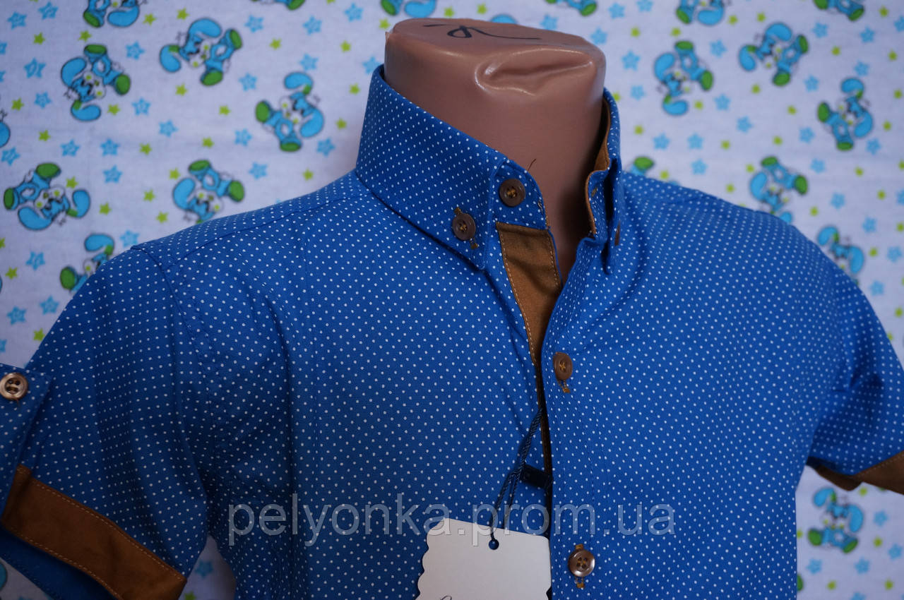 Рубашка 6-12 лет опт короткий рукав